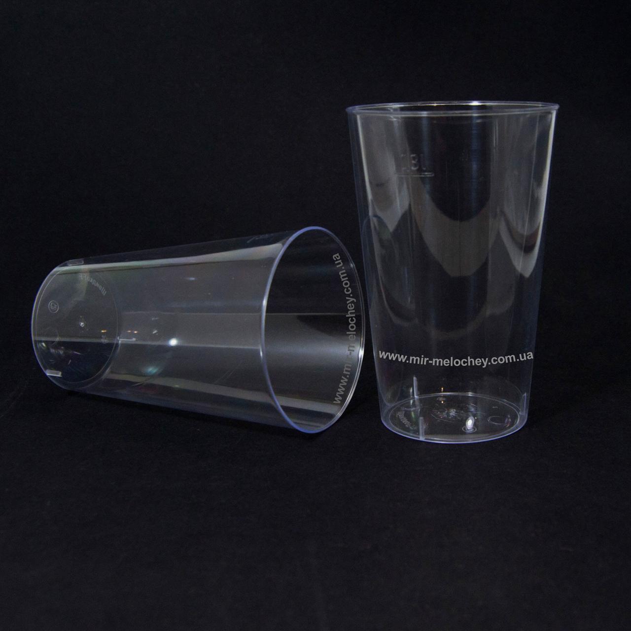 Стакан стеклоподобный (без ніжки) 300 гр прозорий 36Х20 (20 шт)