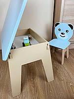 Отличный подарок для ребенка. Стол с ящиком и стульчик. Для учебы,рисования,игры