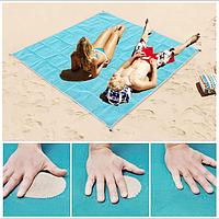 Анти-песок пляжная чудо-подстилка Originalsize Sand Free Mat 200*150 Голубая