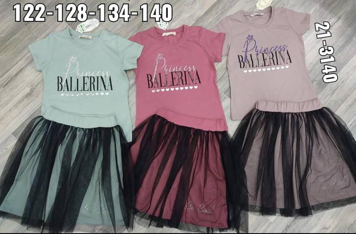 Комплект топ і шорти для дівчинки р. 140-152, фото 2