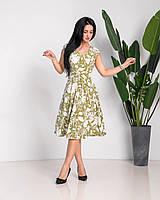 """Модное платье """"300"""", хаки. Размеры 44,46,48,50."""