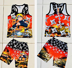 Детский комплект майка и шорты для мальчика 3d p. 5-8 лет