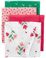 Детские фланелевые пеленки Carters  (набор 4 шт)