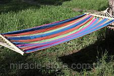 Гамак 100 х 200 из натуральной ткани, гамак анти падение метровая планка, фото 3