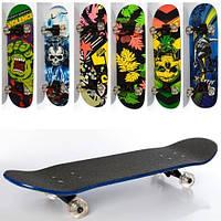 Скейт 79-20 см наждачное покриття, алюмінієва підвіска, колеса ПУ, підшипники ABEC-7