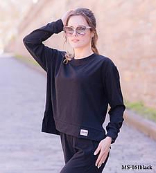 Женский костюм: лонгслив и клешенные штаны Diva MS-161black
