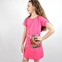 Детское платье трикотажное с карманом тм Meybiy размер 128,140,152,164 см