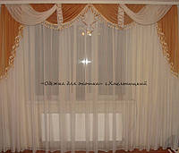 Ламбрикен коричневый КЛАССИКА 3м с бахрамой