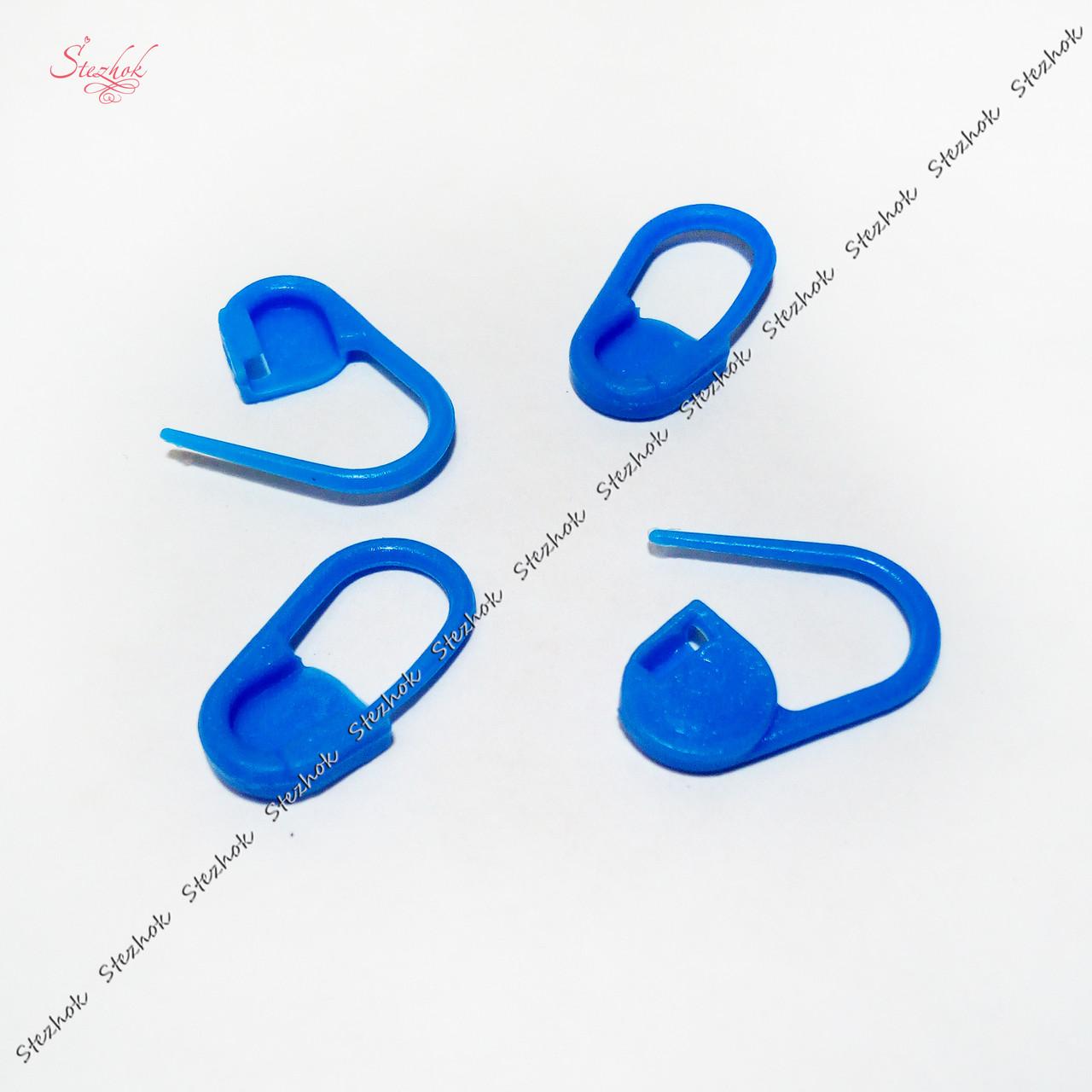 Пластиковая булавка 21х11мм маркер для вязания для рукоделия цвет синий
