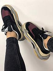 Женские кроссовки в стиле Balenciaga Triple s V2 Black Burgundy ТОП-качество, фото 3