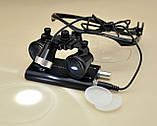 Окуляри бінокулярні StarDent з підсвічуванням в кейсі 3.5х420-BLK хірурга стоматолога ювеліра (OP3.5-420BLK), фото 4
