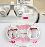 Очки бинокулярные StarDent с подсветкой в кейсе 3.5х420-BLK хирурга стоматолога ювелира (OP3.5-420BLK), фото 6