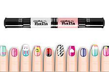 Детский лак-карандаш для ногтей Malinos Creative Nails на водной основе (2 цвета Нюд + Белый)