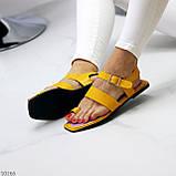 Стильные желтые женские босоножки вьетнамки через палец лето 2021, фото 3