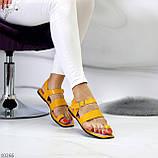 Стильные желтые женские босоножки вьетнамки через палец лето 2021, фото 7