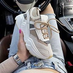 Sneakers Beige White 37 (23.5 див.)