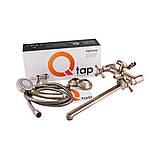 Змішувач для ванни вентильний бронзовий Q-tap Liberty ANT 140, фото 6