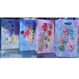"""Пакет подарочный бумажный S """"Spring bouquet"""" 25*19*10см 12шт/уп"""