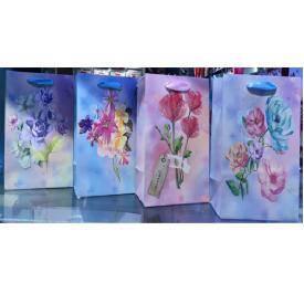 """Пакет подарочный бумажный L """"Spring bouquet"""" 44*31*12см 12шт/уп, фото 2"""