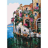 Набір для малювання картини за номерами Ідейка Морський пейзаж Кольори Тоскани 35х50 см (КНО2736)