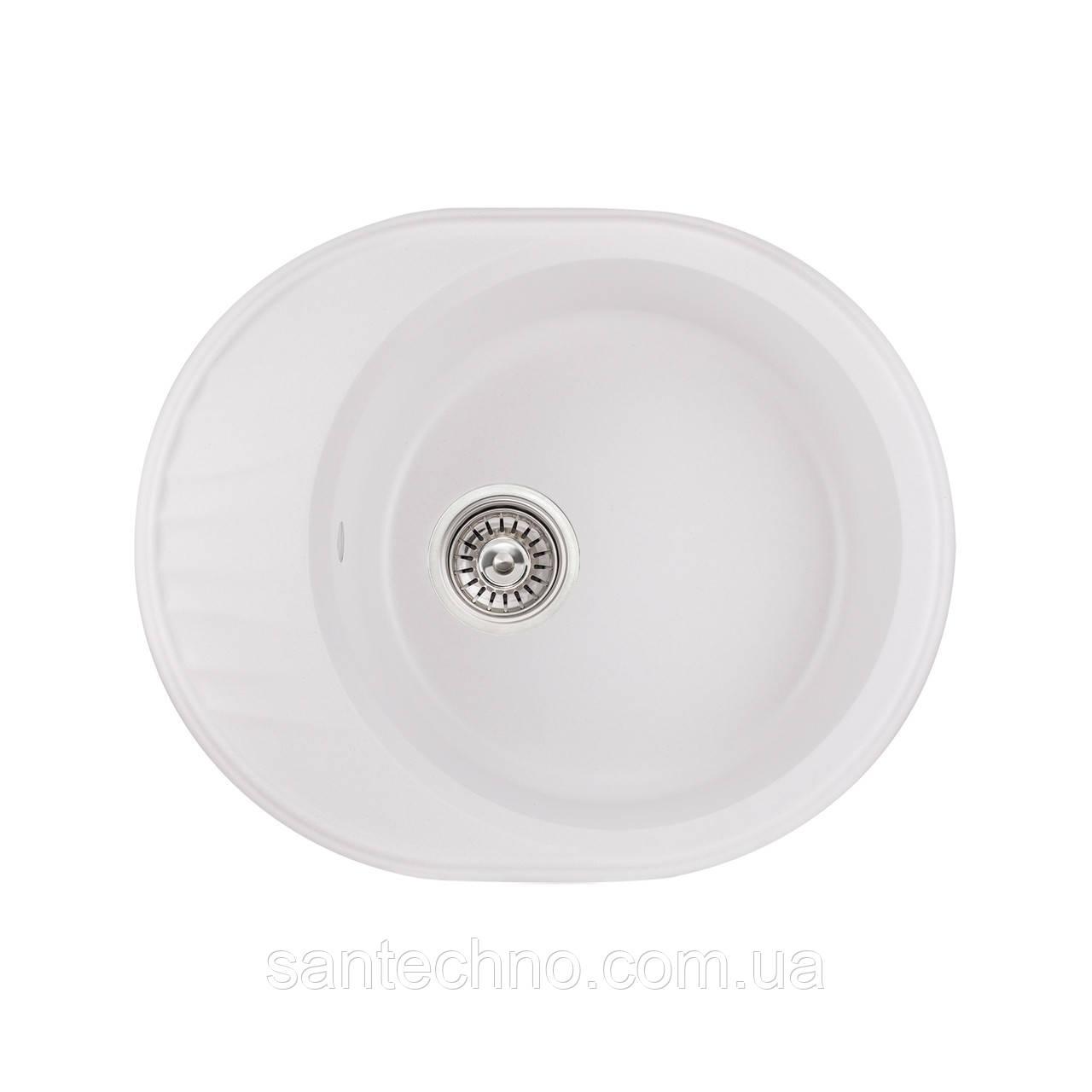 Кухонна мийка Qtap CS 6151 WHI (QT6151WHI650)