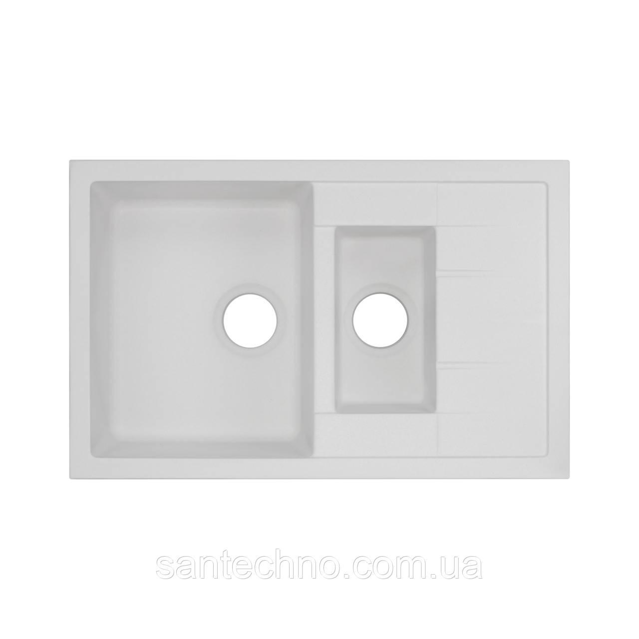 Кухонна мийка Qtap CS 7648 WHI (QT7648WHI650)