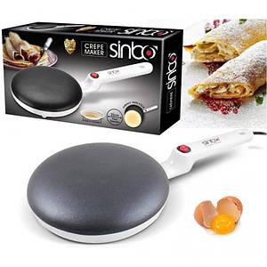 Електрична сковорода блінна скоровідка млинниця від розетки SINBO 5208 сковорода для млинців CREPE MAKER