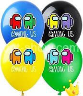 Повітряні кульки амонг ас 12 дюймів 10 шт асорті
