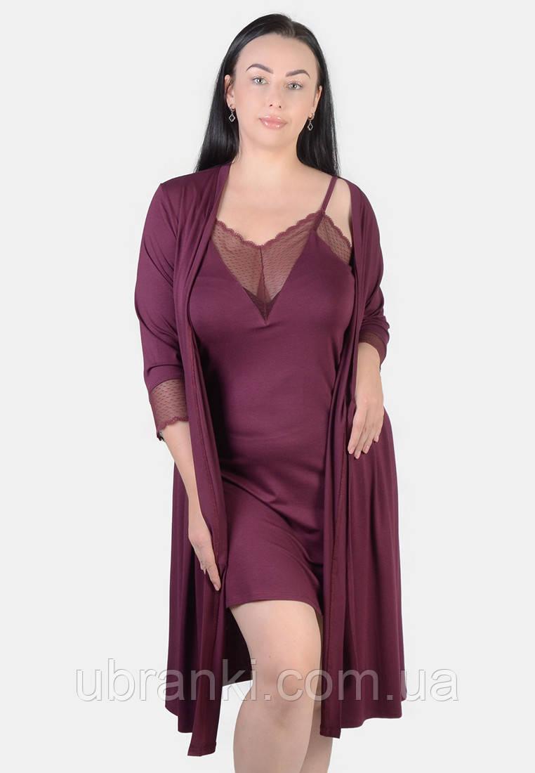 Комплект (халат, нічна сорочка)