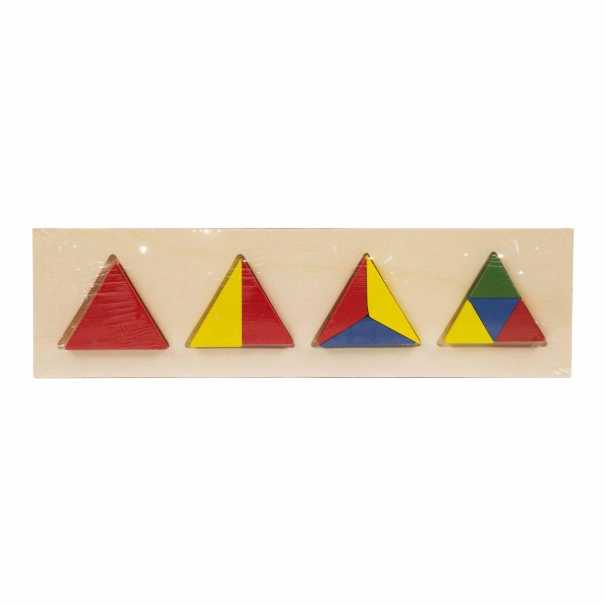 """Рамка-вкладыш """"Дроби: Треугольник """" Д459у-1"""