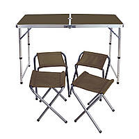 Стол для пикника складной со стульями 4шт.