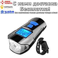 Велосипедный фонарь Geniu 3 в 1 с USB зарядкой водонепроницаемый