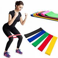 Набор резинок для фитнеса Резинки для приседаний и тренировок 5 шт с разной эластичностью