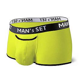 Чоловічі анатомічні спортивні боксери з бавовни, Sport, жовтий