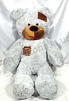 """Плюшевый медведь """"Smile"""" серый 160 см"""