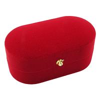 Коробочка для обручальных колец ''Овал'' красный
