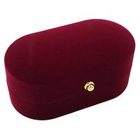 Коробочка для обручальных колец ''Овал'' бордовый