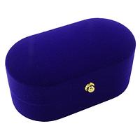 Коробочка для обручальных колец ''Овал'' синий