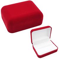 Коробочка для обручальных колец ''Классика'' красный