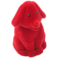 Шкатулка детская собака красный