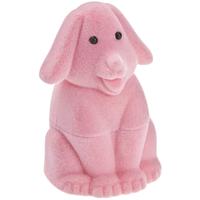 Шкатулка детская собака розовый