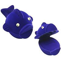 Шкатулка детская рыба синий
