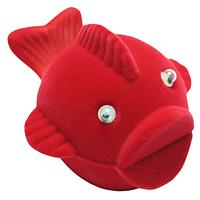 Шкатулка детская рыба красный