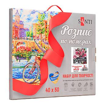 """Набор в коробке, картина по номерам """"Романтичный букет"""", 40*50 см., SANTI"""