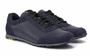Літні кросівки шкіряні сині кеди повсякденні взуття великих розмірів Rosso Avangard Ada Sport BluPerf BS