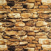 Гладенький папір декоративна 3D панелі під камінь 700х770х5мм (060)