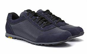 Летние кроссовки кожаные синие кеды повседневные обувь с перфорацией Rosso Avangard Ada Sport Blu Perf