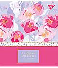 """Зошит для записів А5/48 лін. YES """"Floral dreams"""" фольга золото+софт-тач+УФ-виб., 5 шт/уп., фото 2"""