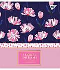 """Зошит для записів А5/48 лін. YES """"Floral dreams"""" фольга золото+софт-тач+УФ-виб., 5 шт/уп., фото 4"""