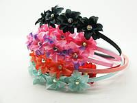 Обручи для волос с цветами (12шт) .24